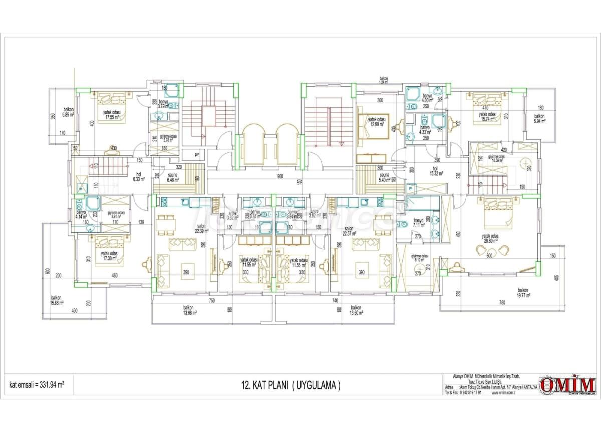 Apartments in a new complex in Mahmutlar, Alanya - 2867 | Tolerance Homes