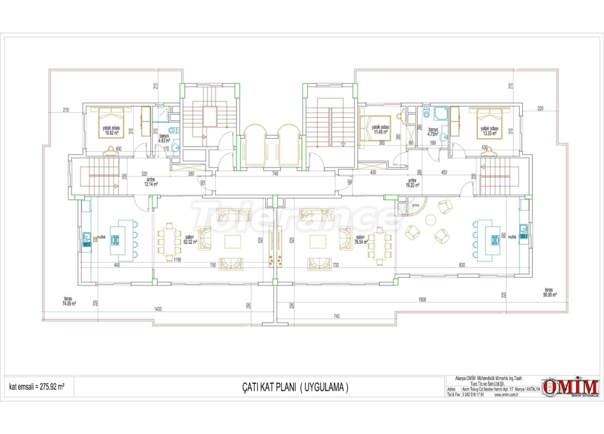 Apartments in a new complex in Mahmutlar, Alanya - 2868 | Tolerance Homes