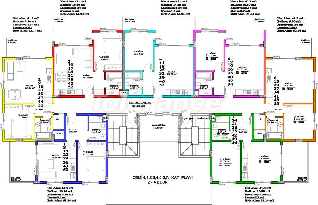 Apartments in Avsallar, Alanya, a unique complex near the sea - 2885 | Tolerance Homes