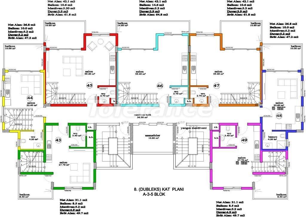 Apartments in Avsallar, Alanya, a unique complex near the sea - 2887 | Tolerance Homes