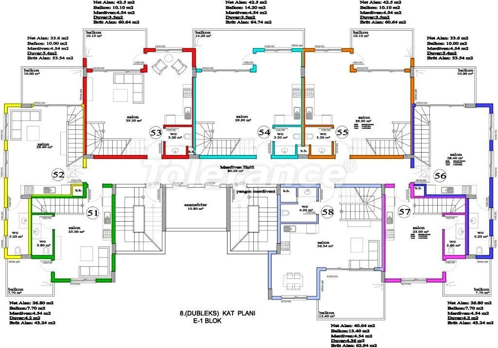 Apartments in Avsallar, Alanya, a unique complex near the sea - 2896 | Tolerance Homes