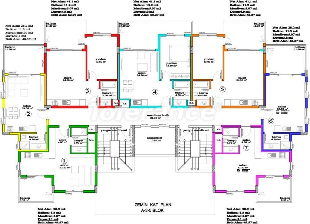 Apartments in Avsallar, Alanya, a unique complex near the sea - 2889 | Tolerance Homes