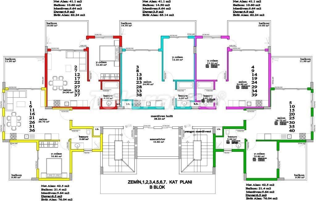 Apartments in Avsallar, Alanya, a unique complex near the sea - 2890 | Tolerance Homes
