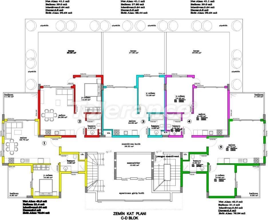 Apartments in Avsallar, Alanya, a unique complex near the sea - 2894 | Tolerance Homes