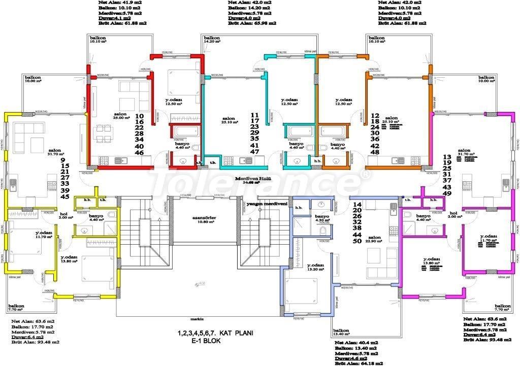 Apartments in Avsallar, Alanya, a unique complex near the sea - 2895 | Tolerance Homes