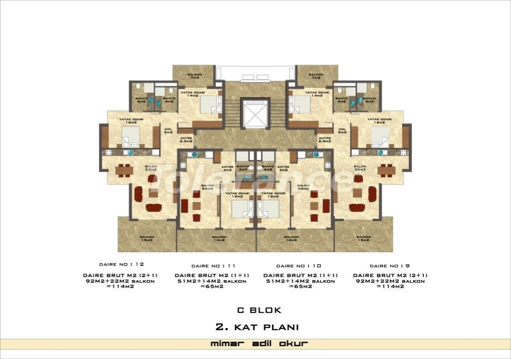 Apartments in Kestel from a well known and reliable construction company - 3035 | Tolerance Homes