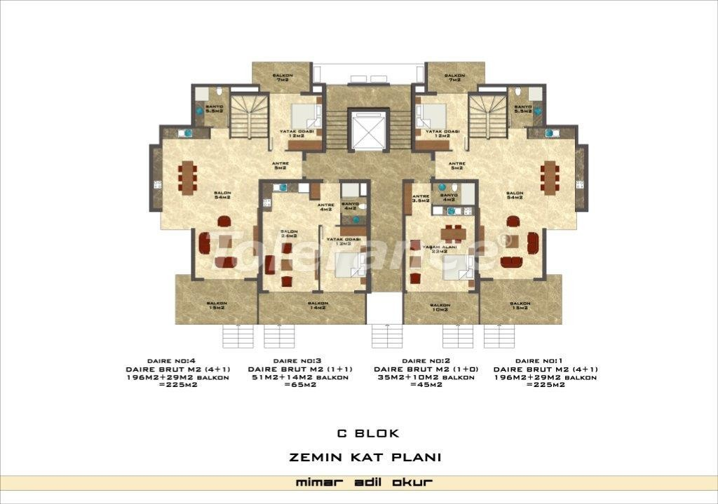 Apartments in Kestel from a well known and reliable construction company - 3038 | Tolerance Homes