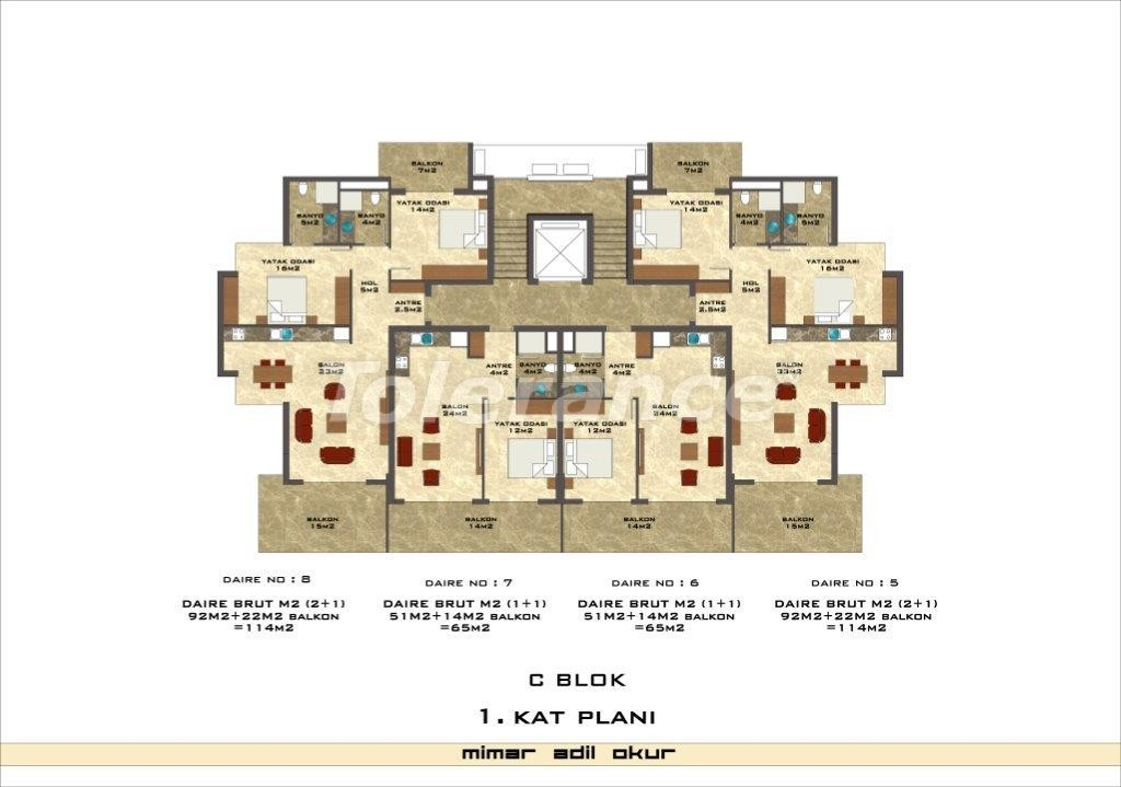 Apartments in Kestel from a well known and reliable construction company - 3033 | Tolerance Homes