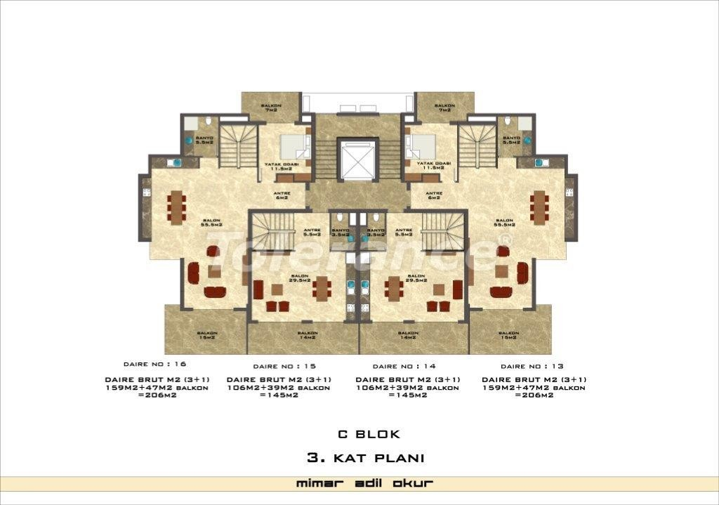 Apartments in Kestel from a well known and reliable construction company - 3036 | Tolerance Homes