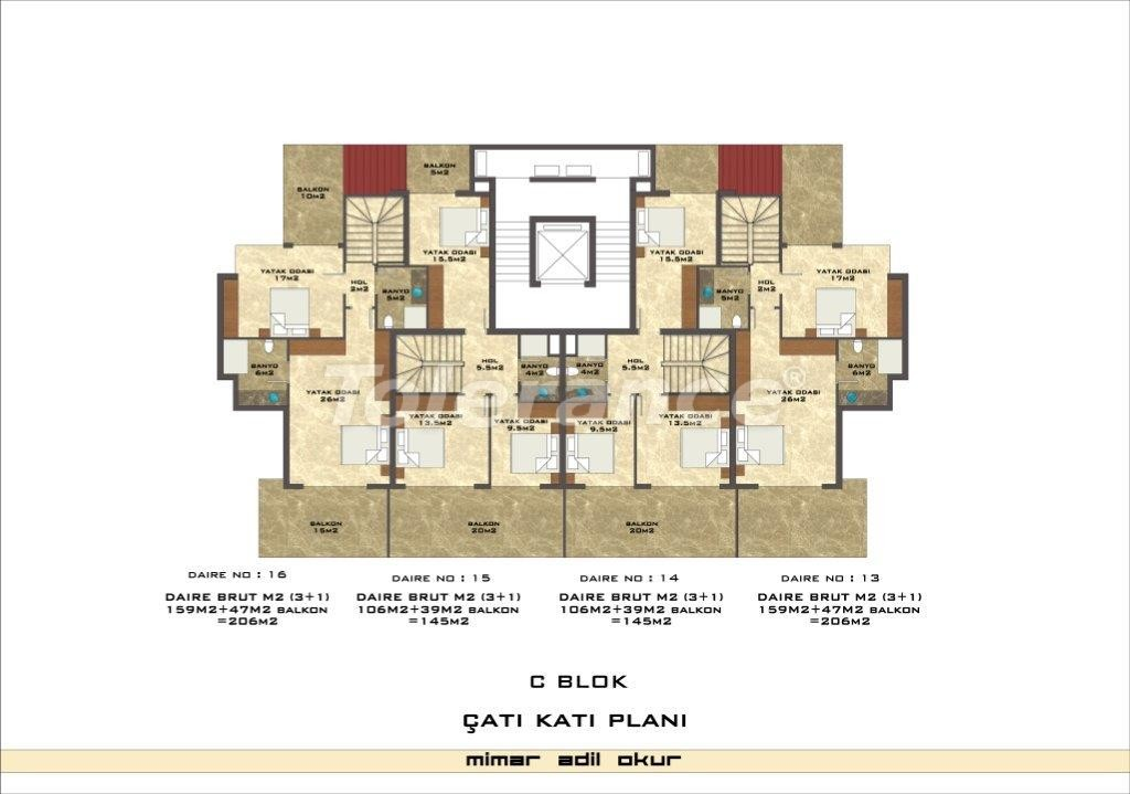 Apartments in Kestel from a well known and reliable construction company - 3037 | Tolerance Homes