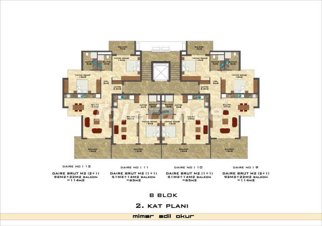 Apartments in Kestel from a well known and reliable construction company - 3028 | Tolerance Homes