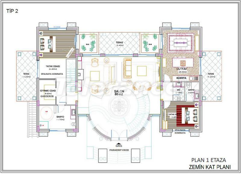 Luxury detached villas in Aslanbucak, Kemer - 5236 | Tolerance Homes