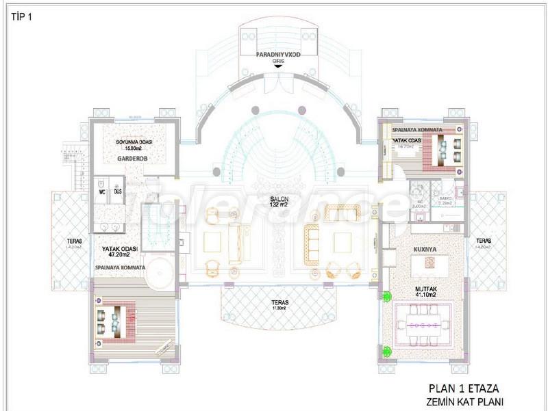 Luxury detached villas in Aslanbucak, Kemer - 5233 | Tolerance Homes