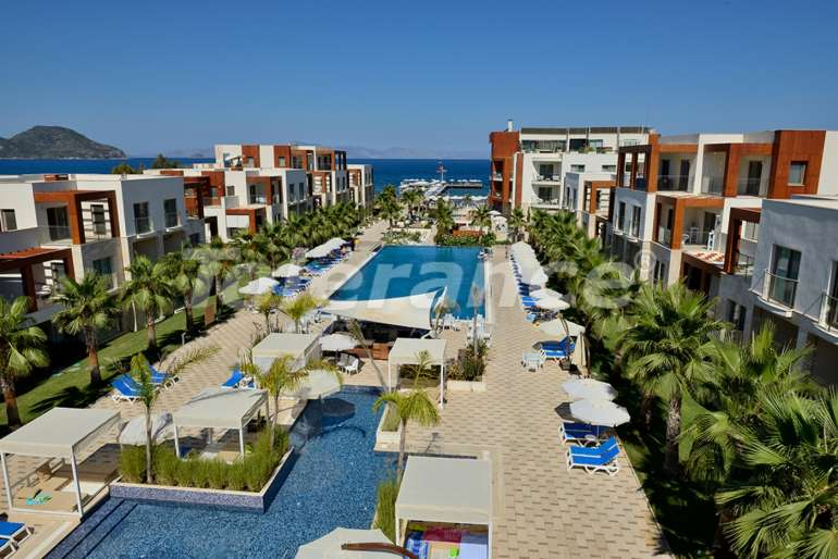 Elite apartment complex in Bodrum hotel type on the first coastline - 6058 | Tolerance Homes
