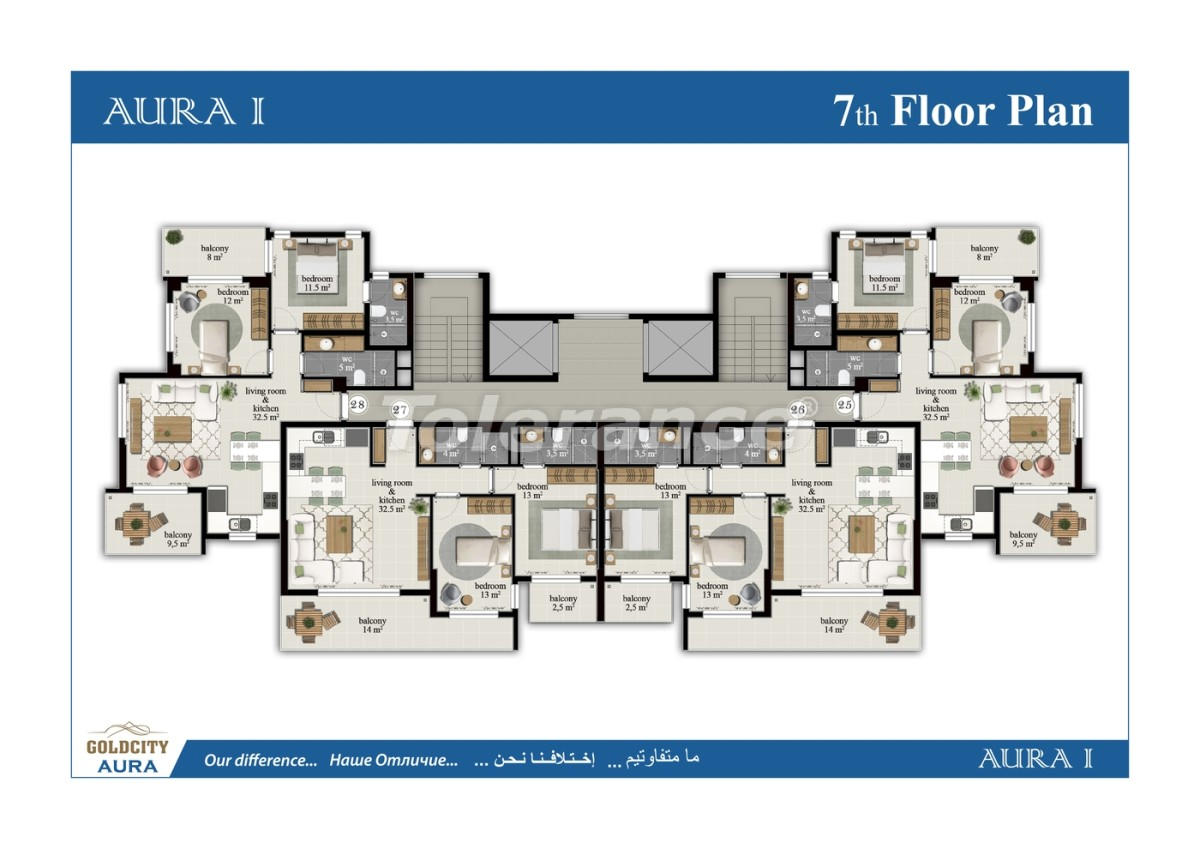 Apartments in Mahmutlar, Alanya, just 450 meters from the sea - 6502   Tolerance Homes