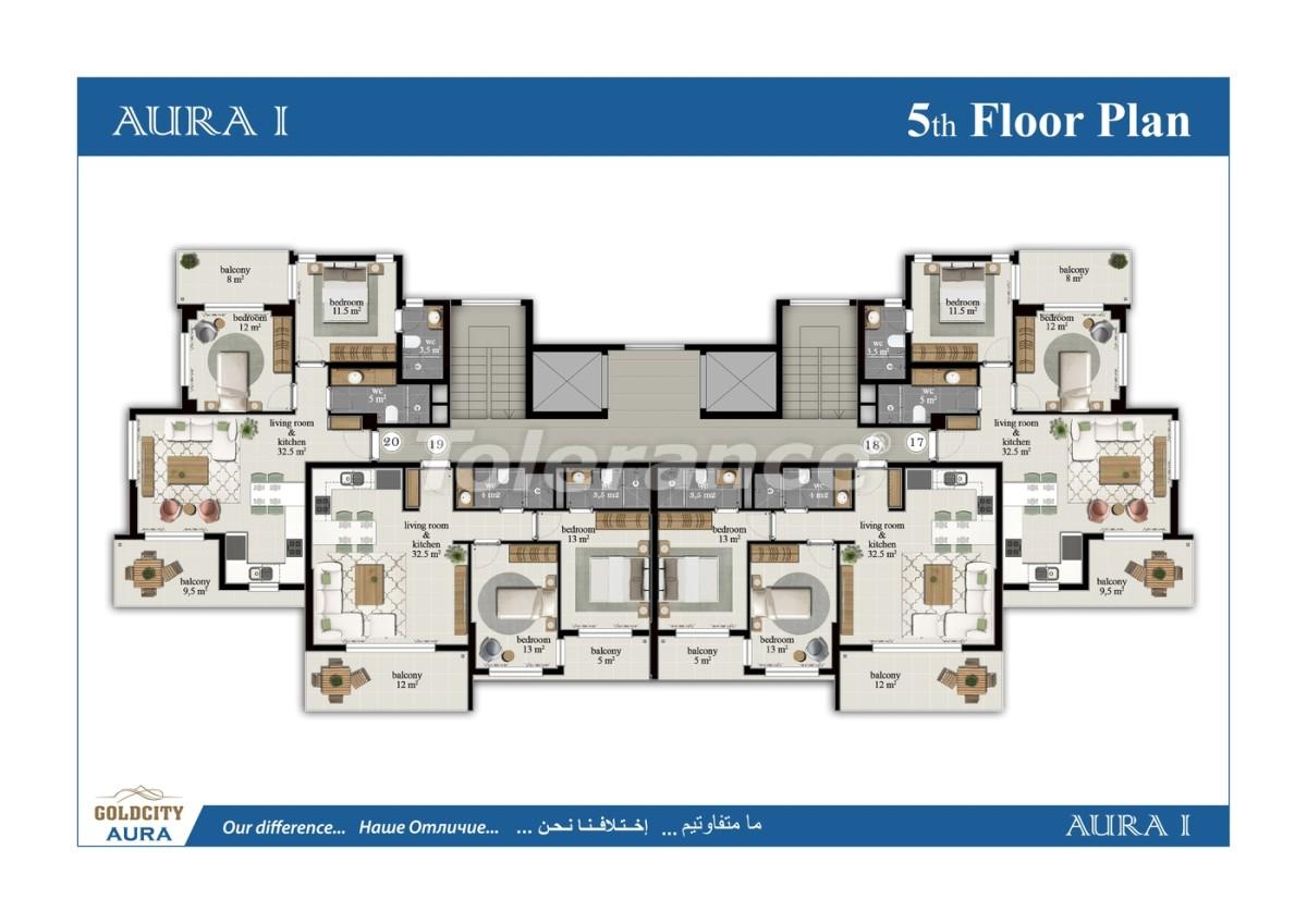 Apartments in Mahmutlar, Alanya, just 450 meters from the sea - 6500   Tolerance Homes