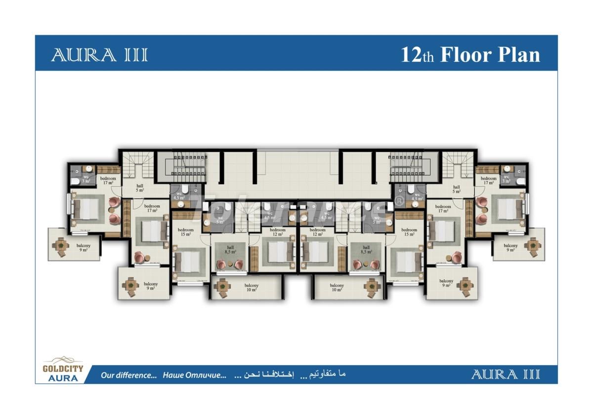 Apartments in Mahmutlar, Alanya, just 450 meters from the sea - 6495   Tolerance Homes