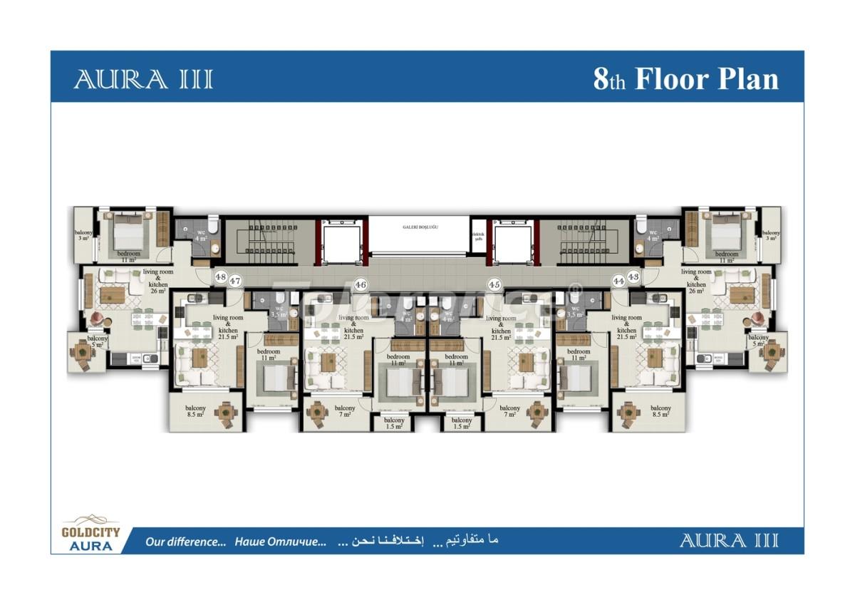 Apartments in Mahmutlar, Alanya, just 450 meters from the sea - 6491   Tolerance Homes