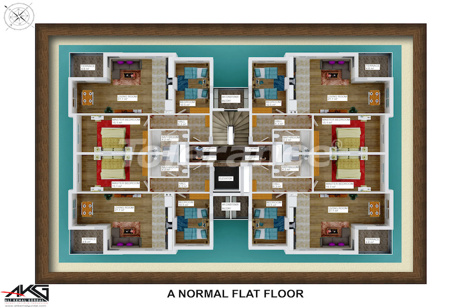 Resale two-bedroom apartment in Liman, Konyaalti from a reliable developer - 6714   Tolerance Homes