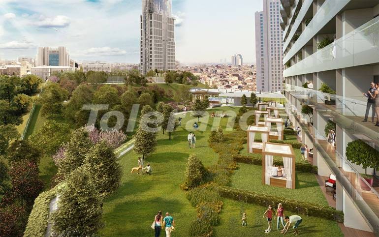 Luxury apartments in modern complex in Sisli, Istanbul with installment up to 4 years with view to Bosphorus - 18477 | Tolerance Homes