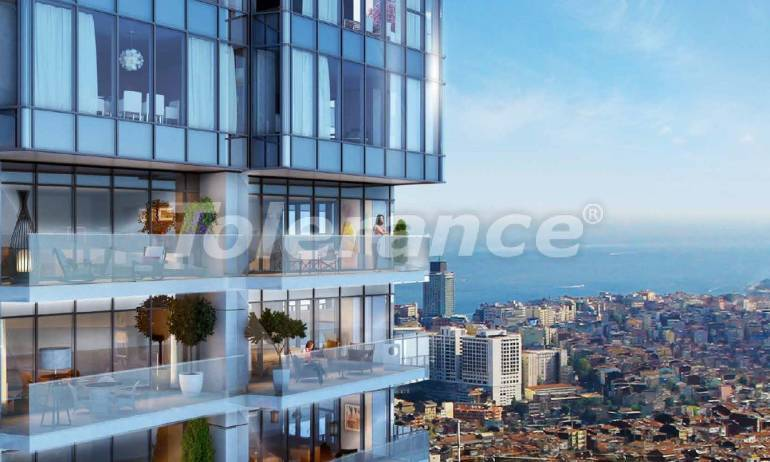 Luxury apartments in modern complex in Sisli, Istanbul with installment up to 4 years with view to Bosphorus - 18480   Tolerance Homes