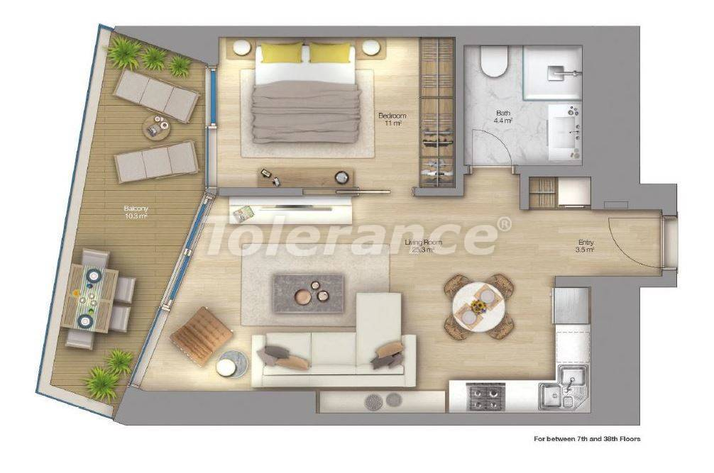 Luxury apartments in modern complex in Sisli, Istanbul with installment up to 4 years with view to Bosphorus - 18514   Tolerance Homes