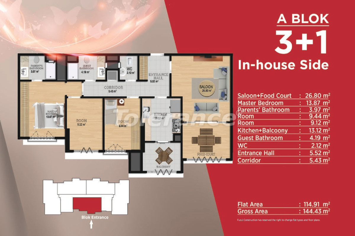 Spacious apartments in Basaksehir, Istanbul in modern complex with a developed infrastructure - 21500 | Tolerance Homes