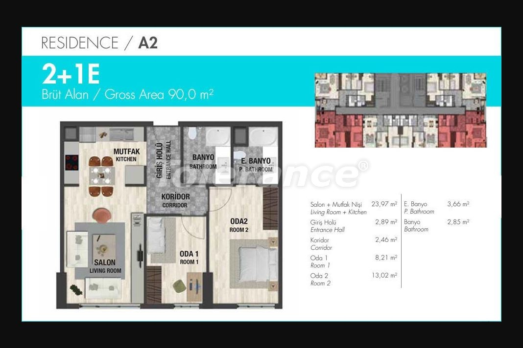 Luxury apartments in Istanbul in modern complex with developed infrastructure with installment - 21150 | Tolerance Homes