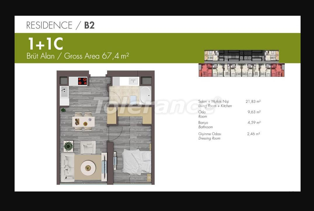 Luxury apartments in Istanbul in modern complex with developed infrastructure with installment - 21149 | Tolerance Homes