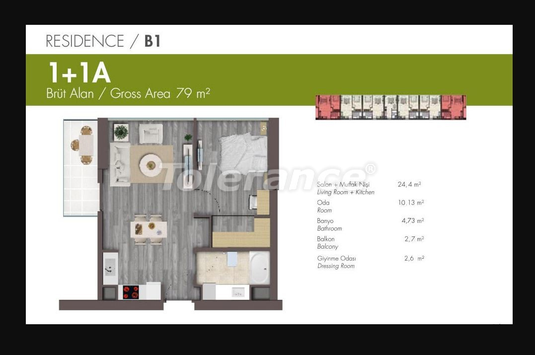 Luxury apartments in Istanbul in modern complex with developed infrastructure with installment - 21148 | Tolerance Homes
