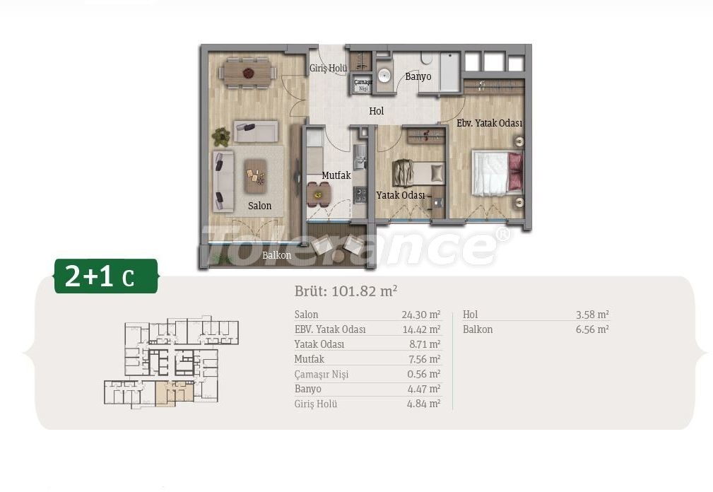 Spacious apartments in Istanbul, profitable for investments, in complex near the lake - 21660   Tolerance Homes