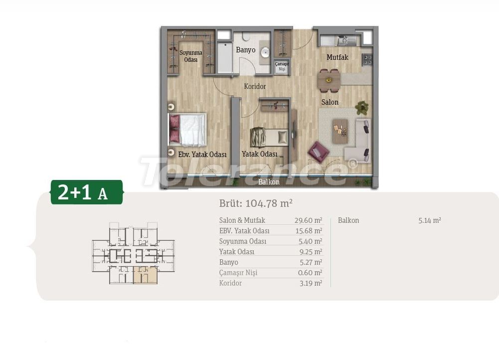 Spacious apartments in Istanbul, profitable for investments, in complex near the lake - 21659   Tolerance Homes